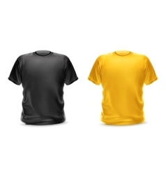 Black and yellow t-shirts vector image