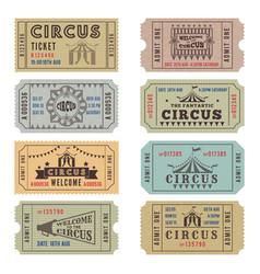 Design template of circus tickets vector