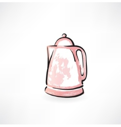 electric kettle grunge icon vector image vector image