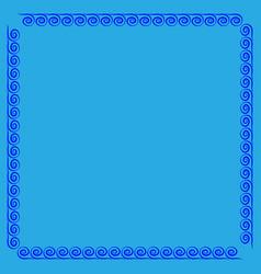 frame blue 4 1002 vector image
