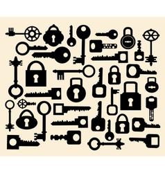Keys and locks vector image