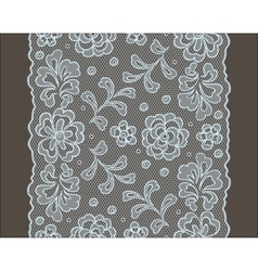 Seamless lace pattern flower vintage background vector image