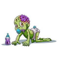 A baby zombie vector image