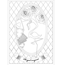 Coloring Page Alice in Wonderland Royal Croquet vector image