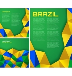 Set of geometric backgrounds - Brazil flag colors vector image vector image