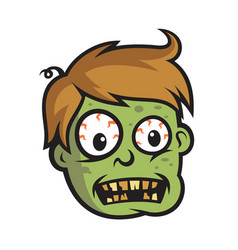 boy zombie head vector image