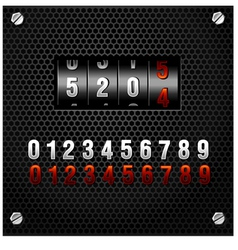 countdown counter vector image vector image