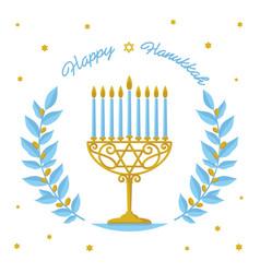 hanukkah design - happy hanukkah greeting vector image