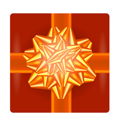 orange gift bow vector image