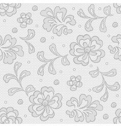 Seamless lace pattern flower vintage background vector image vector image