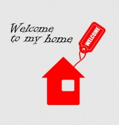 welcome to my home vector image vector image