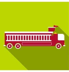 Fire engine icon flat style vector
