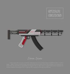 Futuristic machine gun for shooter games vector image vector image