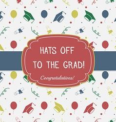 Graduation Celebrating Invitation or Postcard vector image vector image