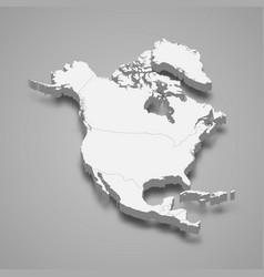 3d map north america vector