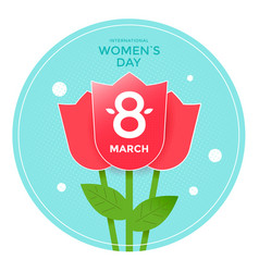 8 march poster design international women day card vector image