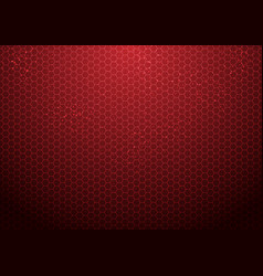 abstract red hexagon pattern background with vector image