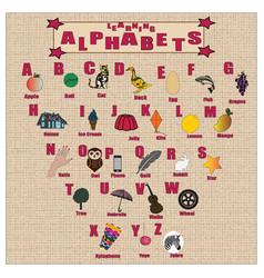 Attractive alphabets vector