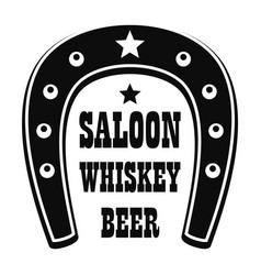 Beer western saloon logo simple style vector