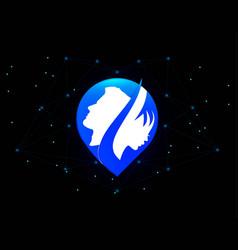 blue logo-01-01 vector image