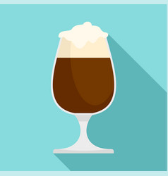 brown beer in bar icon flat style vector image