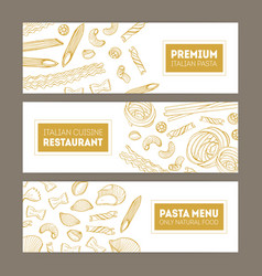 bundle horizontal web banners with various vector image