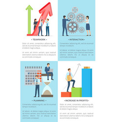 Business banners with male and female employees vector