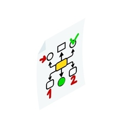 Business planning icon isometric 3d style vector image
