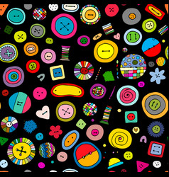 buttons seamless pattern for your design vector image