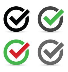 Check mark icon in circle vector
