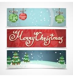 Christmas banners horizontal vector image