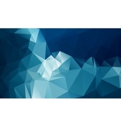 Cold polygonal background vector