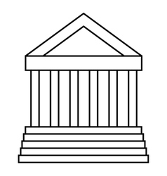 Colonnade icon outline style vector image