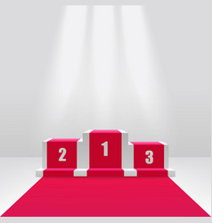 Competition winners podium or pedestal 3d vector