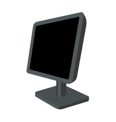 computer monitor icon in cartoon style isolated on vector image