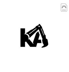 Construction ka initial logo design icon isolated vector