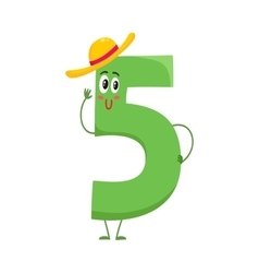 Cute and funny colorful 5 number characters vector image
