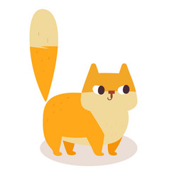 cute ginger cartoon cat isolated on white vector image
