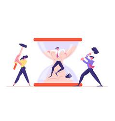Deadline office worker frustration career burnout vector