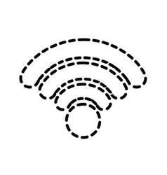 dotted shape wifi connection network digital vector image