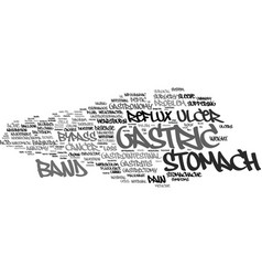 Gastric word cloud concept vector