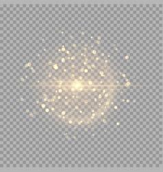 Golden shiny flash vector