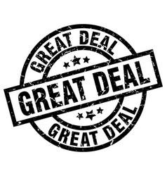 Great deal round grunge black stamp vector
