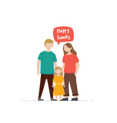happy family gesturing vector image