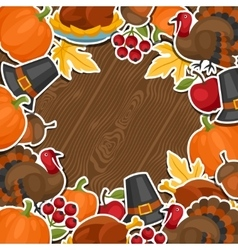 happy thanksgiving day background design vector image