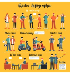 Hipster Infographics vector