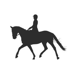 Horsewoman vector