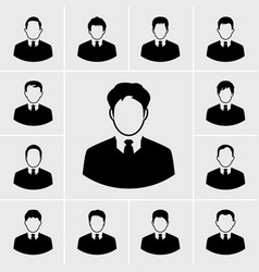 icons business man set vector image
