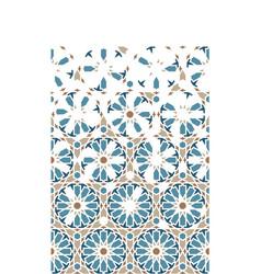 Islamicarabic mosaic wallpaper border vector