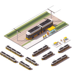 Isometric tramways vector
